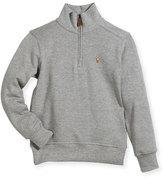 Ralph Lauren Pima Cotton Half-Zip Pullover Half-Zip Sweater, Size 2-4