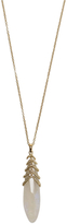 Maiyet 18K Yellow Gold, Moonstone & 0.50 Total Ct. Diamond Ribcage Pendant Necklace
