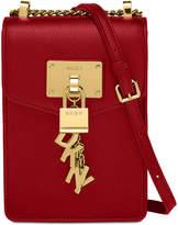 DKNY Elissa Pebbled Charm Mini Chain Strap Crossbody, Created for Macy's