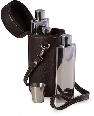 Bey-Berk 7-Piece Stainless Steel Flask Set