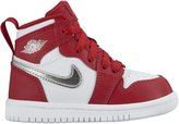 Jordan Nike Toddler Boy's Air 1 Retro High Fashion Shoe Gym Red/Metallic Silver-White 4C