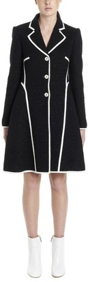 Boutique Moschino Contrasting Piping Tweed Coat