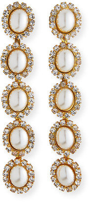 Elizabeth Cole Von Ombre Crystal Drop Earrings
