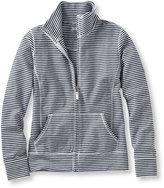 L.L. Bean Ultrasoft Sweats, Full-Zip Mock-Neck Jacket Stripe