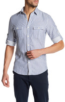 Gant Skipper Striped Long Sleeve Trim Fit Shirt