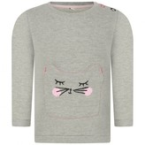 Esprit EspritBaby Girls Grey Cat Pocket Sweater