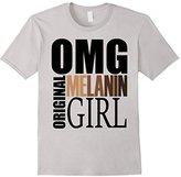 Men's OMG Original Melanin Girl Funny T-Shirt Small