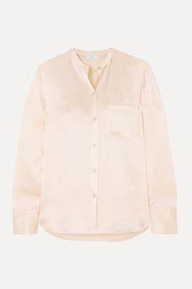Vince Silk-satin Shirt - Cream