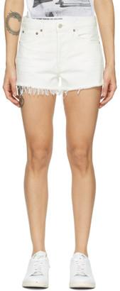 AGOLDE White Parker Vintage Shorts