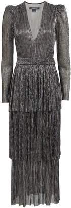 Sabina Musayev Carry Plisse Lurex Maxi Dress