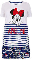 Yours Clothing YoursClothing Plus Size Womens Ladies Nightwear Red White Disney Pyjama Set