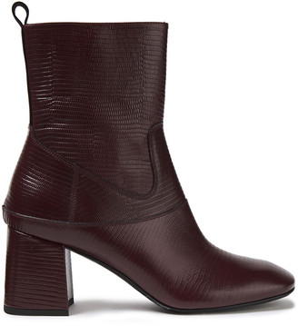 McQ Lizard-effect Leather Ankle Boots