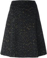 Steffen Schraut leopard print A-line skirt - women - Polyester/Wool/other fibers - 38