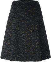 Steffen Schraut leopard print A-line skirt