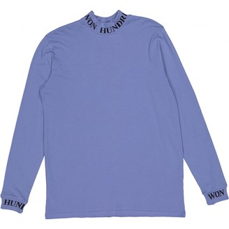 Won Hundred Blue Cotton Tops