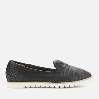 Dune Women's Galleon Leather Comfort Loafers - Black
