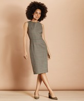Brooks Brothers Plaid Wool Twill Sheath Dress