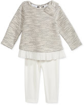 First Impressions Baby Girls' 2-Pc. Long-Sleeve Reverse French Terry Tunic & Leggings Set, Only at Macy's