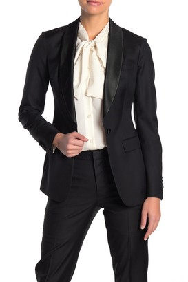 Suistudio Cameron Shawl Collar Wool Tuxedo Blazer