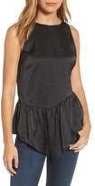 Halogen Women's Sleeveless Asymmetrical Ruffle Top