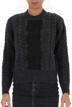 See by Chloe Lace Insert Cropped Sweater
