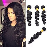 """Echo Beauty Malaysian 7a Remy Human Hair Weft Real Virgin Malaysian Hair Extensions Loose Wave (18""""20""""22""""24"""")"""