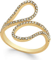 INC International Concepts Gold-Tone Pavé Crystal Bypass Ring, Created for Macy's