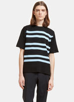 Acne Studios Men's Keris Striped Rib T-shirt In Black