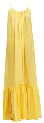 Kalita Brigitte Habotai-silk Maxi Dress - Womens - Yellow