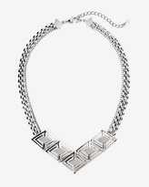 White House Black Market Silvertone Watch Band Necklace