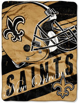 Northwest Company New Orleans Saints Micro Raschel Deep Slant Blanket