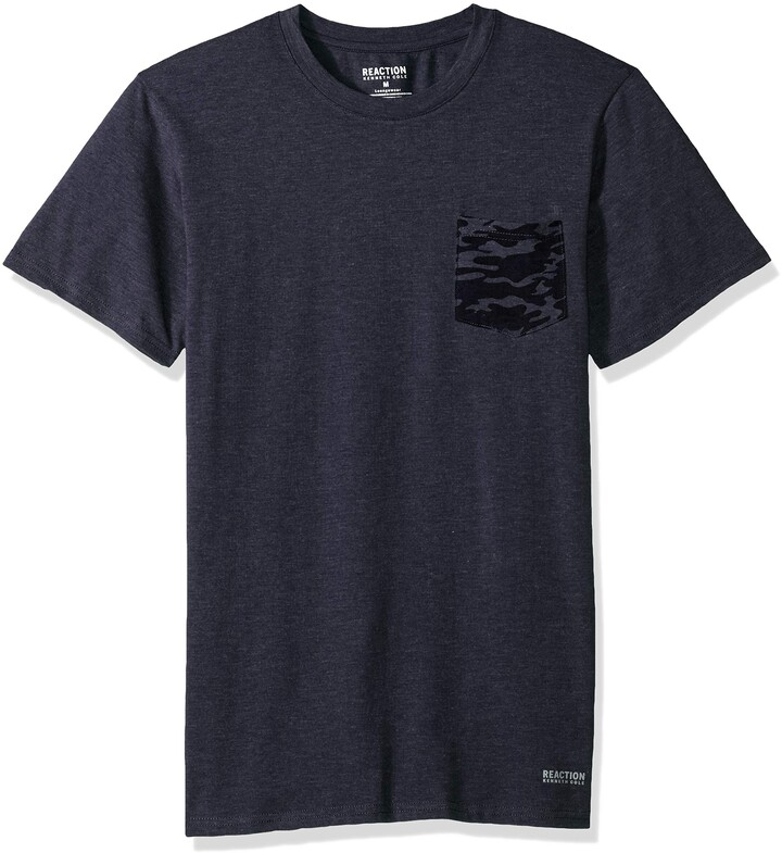 NEW RNBR-3 REACTION KENNETH COLE GRAY COLLECTION LOGO MENS SHORT SLEEVE T-SHIRT