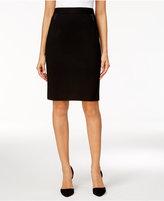 Kasper Zip-Pocket Pencil Skirt