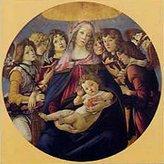 Sandro 1art1 Posters Botticelli Poster Art Print - Madonna Della Melagrana (20 x 20 inches)
