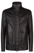 Helmut Lang Funnel Neck Leather Jacket