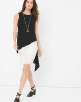 White House Black Market Colorblock Tiered Dress