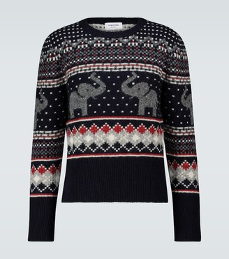 Thom Browne Icon Elephant crewneck sweater