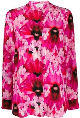 Alexander McQueen Graphic Flowers Print Shirt