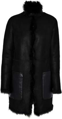 Belstaff Shearling-lined Faux Leather Coat