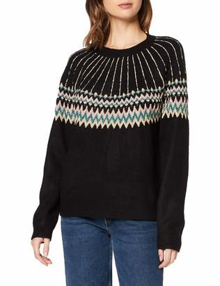 Dorothy Perkins Women's Black Lurex Fairisle Jumper Pullover Sweater 10