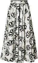 Carolina Herrera printed flared skirt