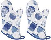 Now Designs Basic Oven Mitts (Set of 2), Print