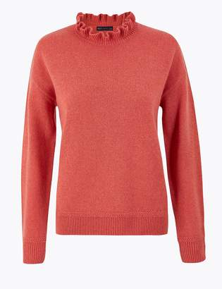 Marks and Spencer Ruffle High Neck Jumper