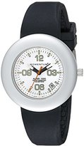 Momentum Women's 1M-SP99WS1B Alter Ego Silver Bezel White Dial Black Band Watch