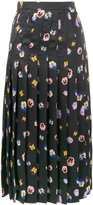 Christopher Kane Ditsy Pansy printed skirt - women - Silk/Acetate/Viscose - 38
