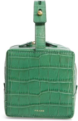 Frame Les Second Cube Croc Embossed Leather Satchel