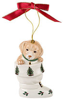 Spode Christmas Tree Pup in Boot Ornament