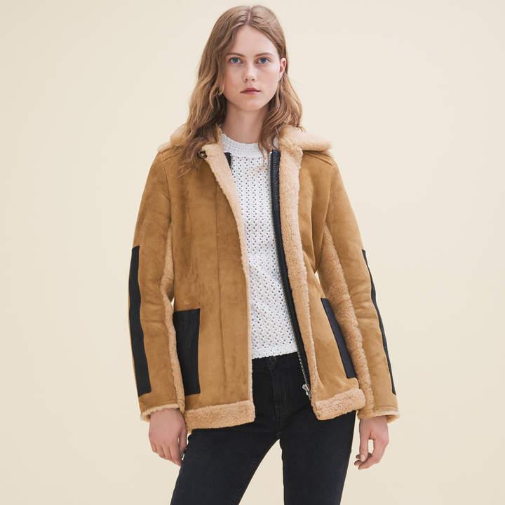 Maje Sheepskin coat