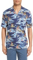 French Connection Men's Surf Odyssey Regular Fit Sport Shirt