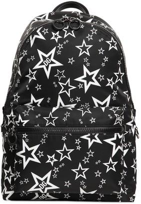 Dolce & Gabbana Star Print Nylon Backpack